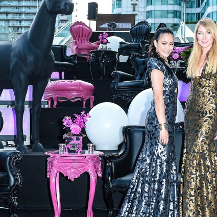 Reznick Event Carpets featured in Celebrating with Candice and Alison at Malaparte