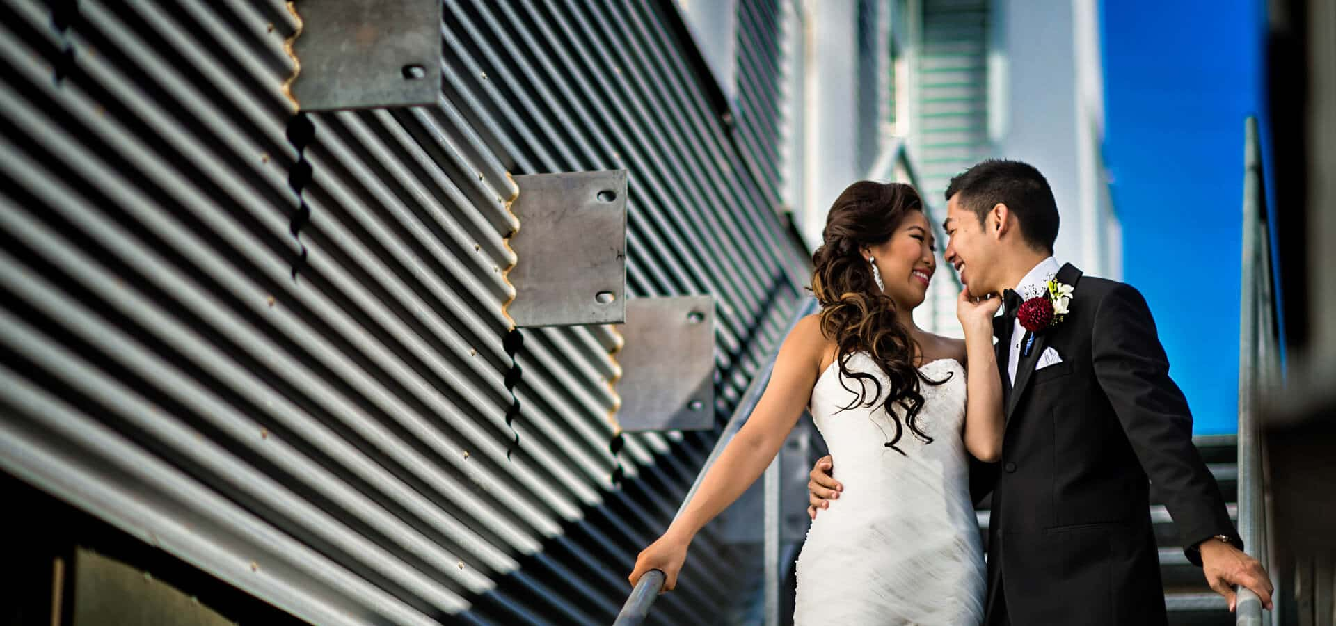 Hero image for Andrea & Desmond Tie The Knot at Liberty Grand