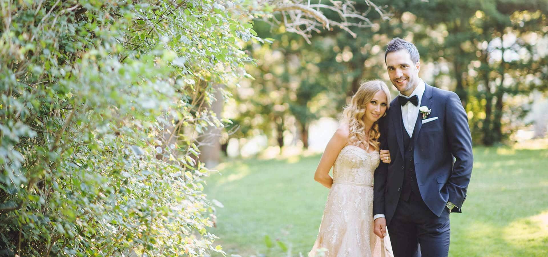 Hero image for Nicole & Joey's Elegant Toronto Wedding at Graydon Hall Manor