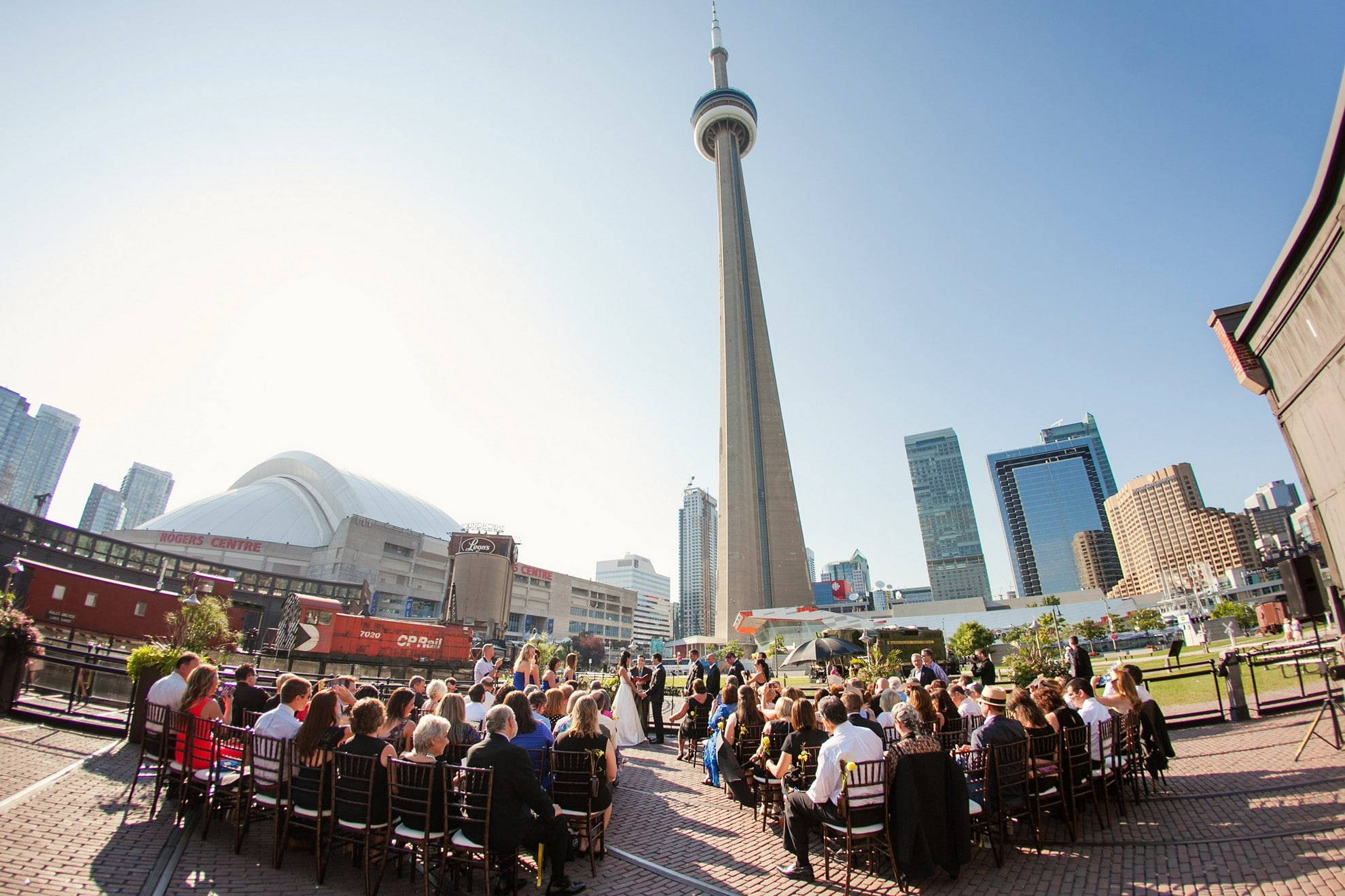 Hero image for Modern, Urban, Romantic Bliss at Steam Whistle Brewery