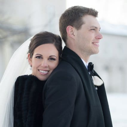 Thumbnail for A Gorgeous Winter Wedding from Krista Fox Photography