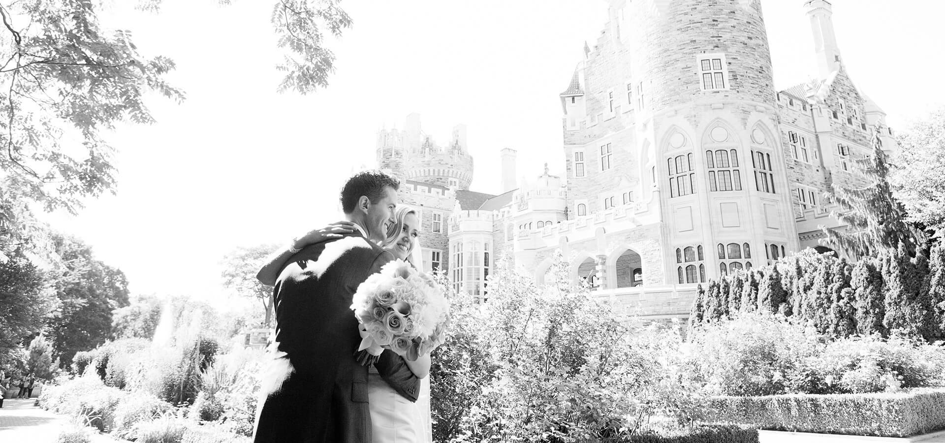 Hero image for Julia & Eric Wedding at Toronto's Casa Loma