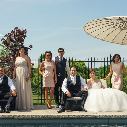 Crystal Fountain Event Venue featured in Elizabeth & Bill's Elegant Wedding at Crystal Fountain