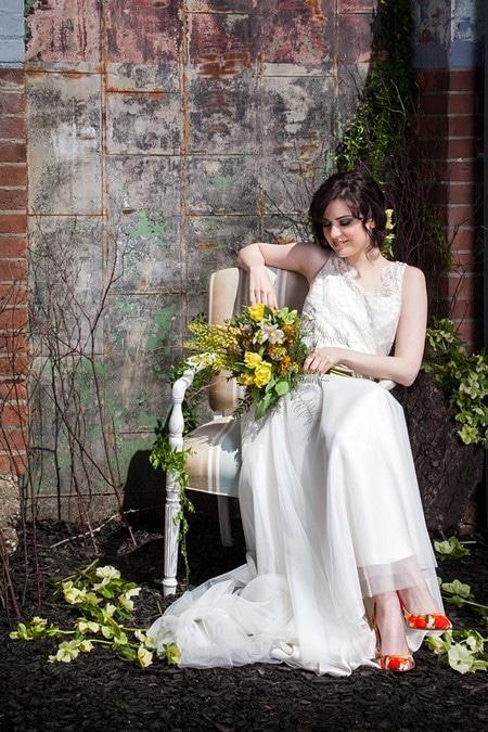 stylized bridal shoot artscape wychwood barns, 8