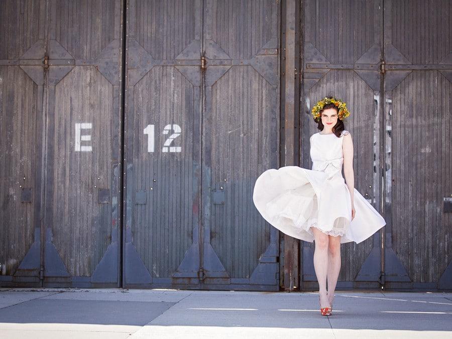 Hero image for Stylized Bridal Shoot at Artscape Wychwood Barns