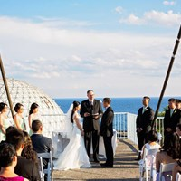Ellie & Tommy's Rooftop Ceremony at Atlantis Pavilion