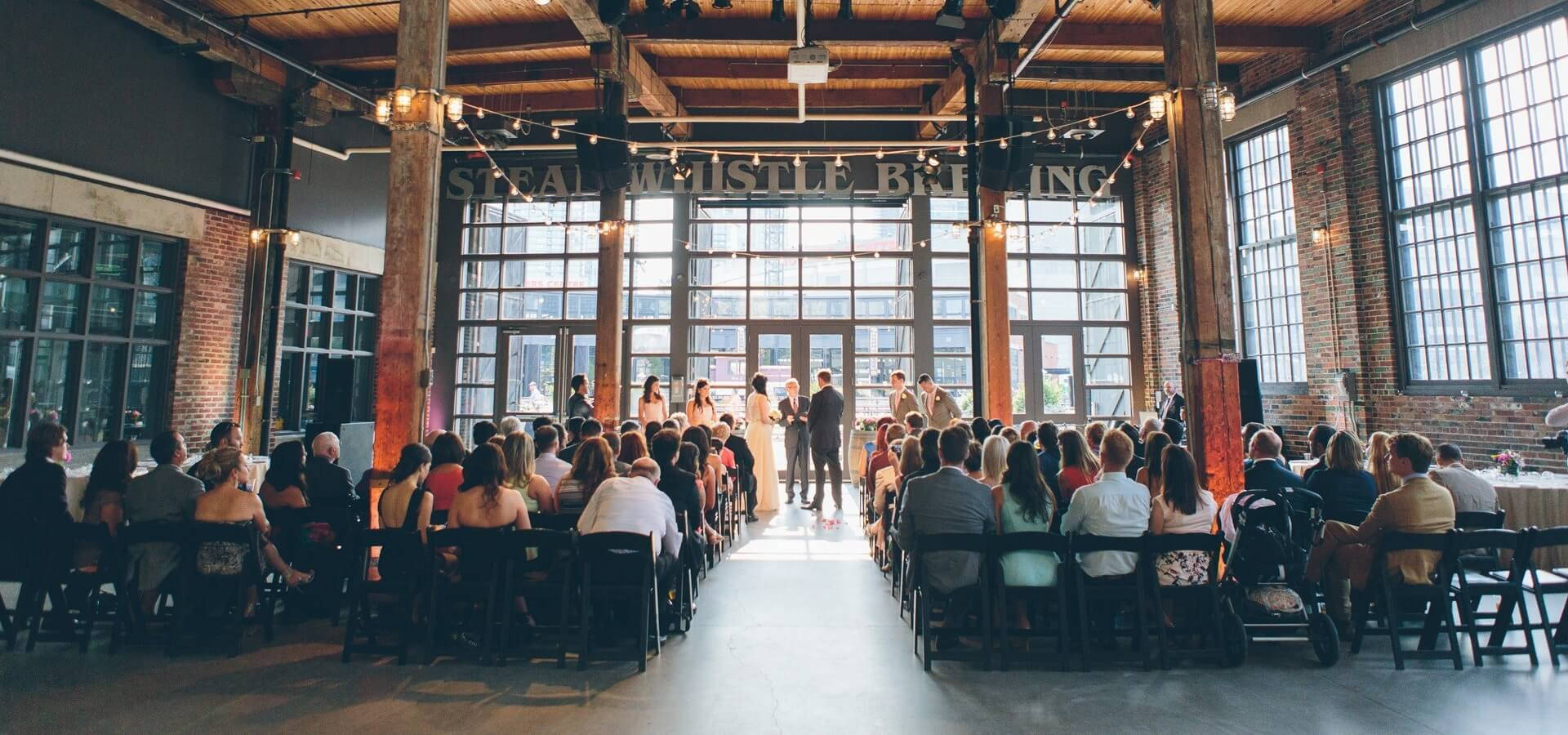Hero image for A Summer Wedding at Steam Whistle Brewery