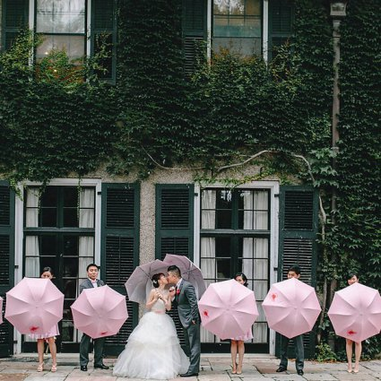 Driftwood Film & Photo featured in Ling & Dave's Pink, Red and Gold Wedding at Columbus Even…