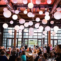 Theresa & Mike's Trendy Steam Whistle Wedding
