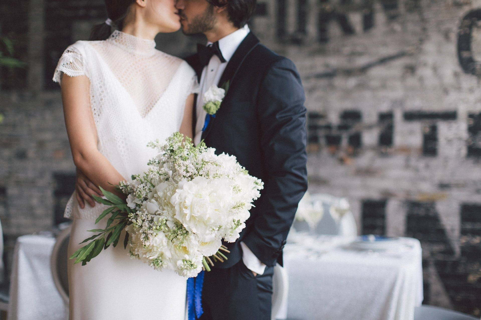 Hero image for A Stunning Modern White and Blue Styled Shoot at The Burroughes