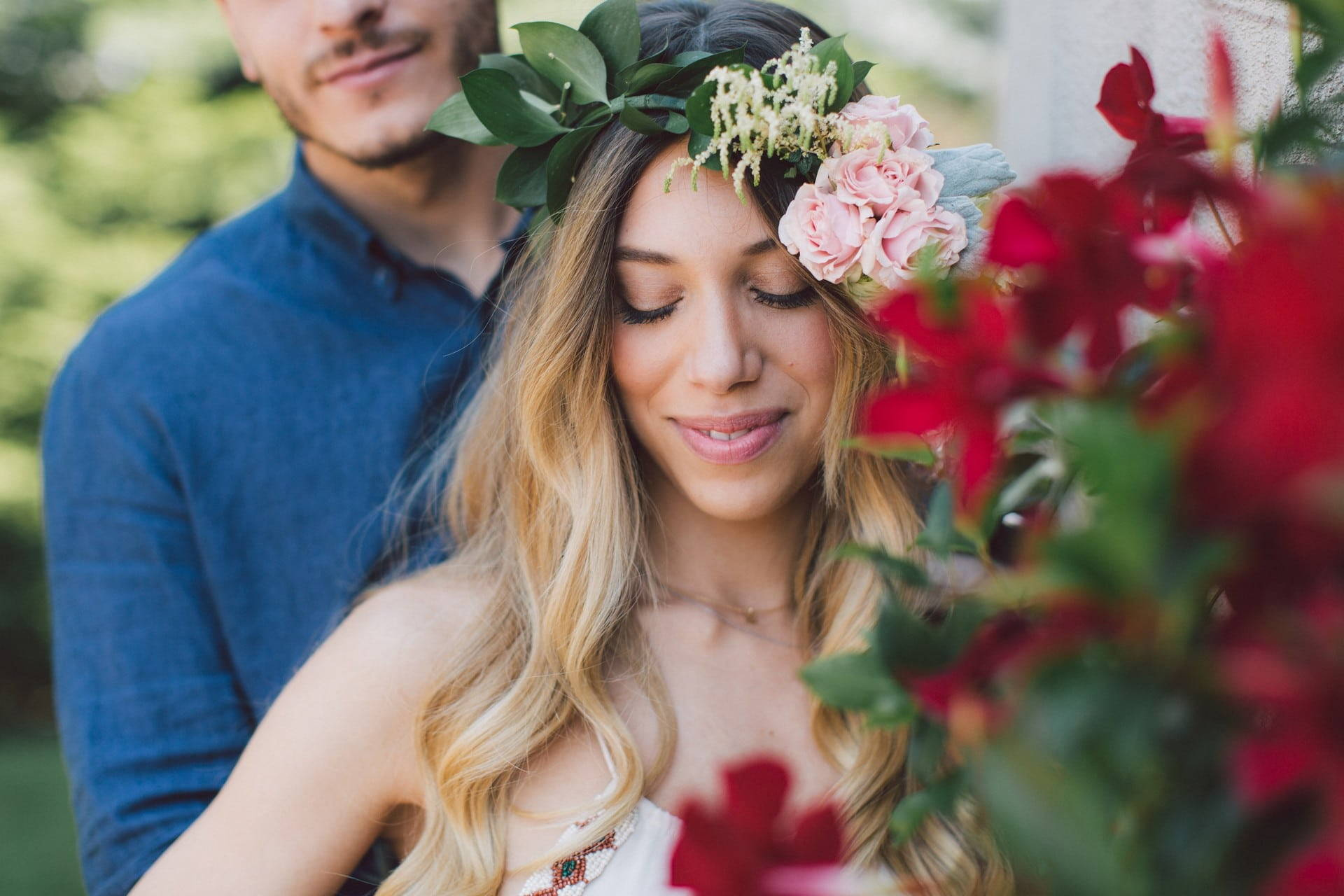 Hero image for Alessia and Luca's Bohemian Chic Styled Engagement