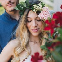Alessia and Luca's Bohemian Chic Styled Engagement