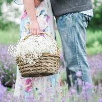 Rebekah & Kyle's Lavender Field Engagement