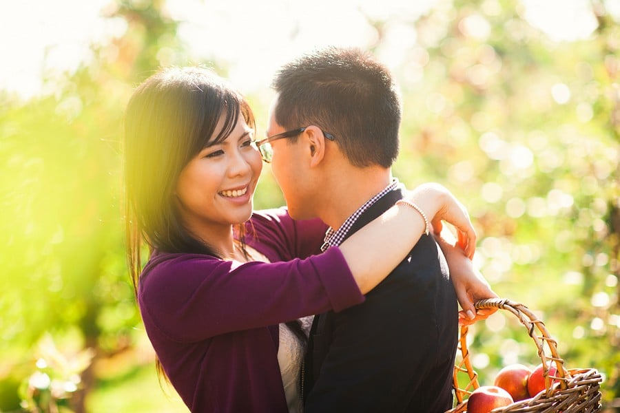 Hero image for Katherine & Justin's Orchard Engagement Session at Chudleigh's Apple Farm