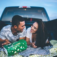 Samantha & Jorge's Romantic Drive-In Engagement Session