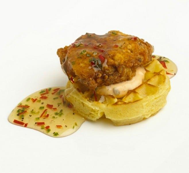 Chicken&Waffles_maplejalapenosauce_BruceGibson