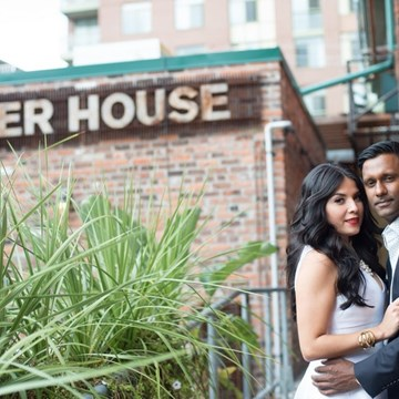 Maria & Vivake's Engagement Session & Bridal Shower at The Distillery District!