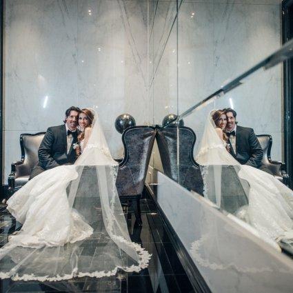 Thumbnail for Ashley and Brad's Elegant Wedding at Trump International Hote…