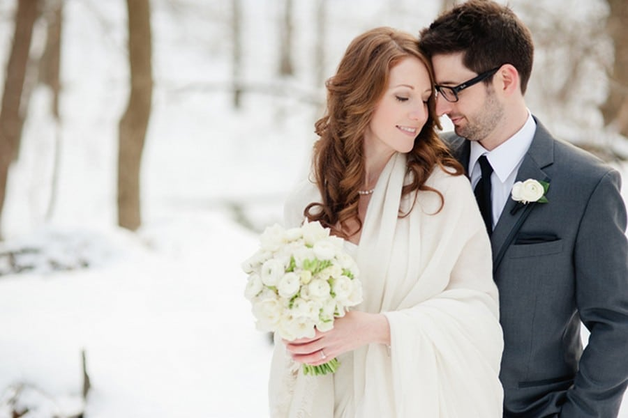Hero image for Ashley and Scott's Winter Wedding At Steam Whistle Brewery