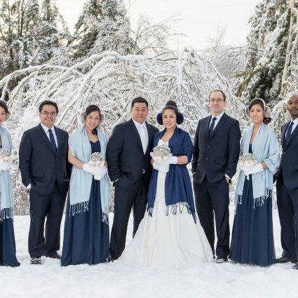 HenjoFilms featured in Jenny and Joe's Winter Wonderland Wedding at McMichael Canadi…