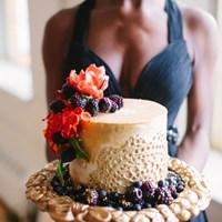 An Elegant Black Wedding Gown Inspired Stylized Shoot