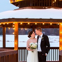 Megan and Matt's Cozy Winter Wedding at The Manor