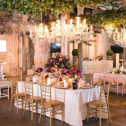 Michael Coombs Entertainment featured in An Enchanted Garden-Themed Wedding Open House at The Fermenti…