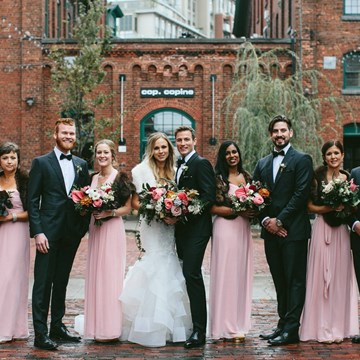 Robyn and Mike's Ultra Romantic Wedding at The Distillery District - Loft