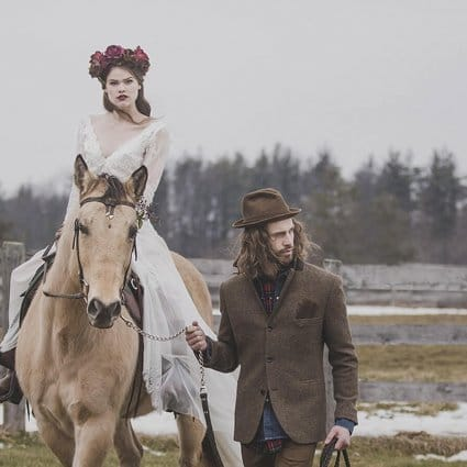 Thumbnail for A Winter Canadiana Woodland Inspired Styled Shoot at HollyOak…