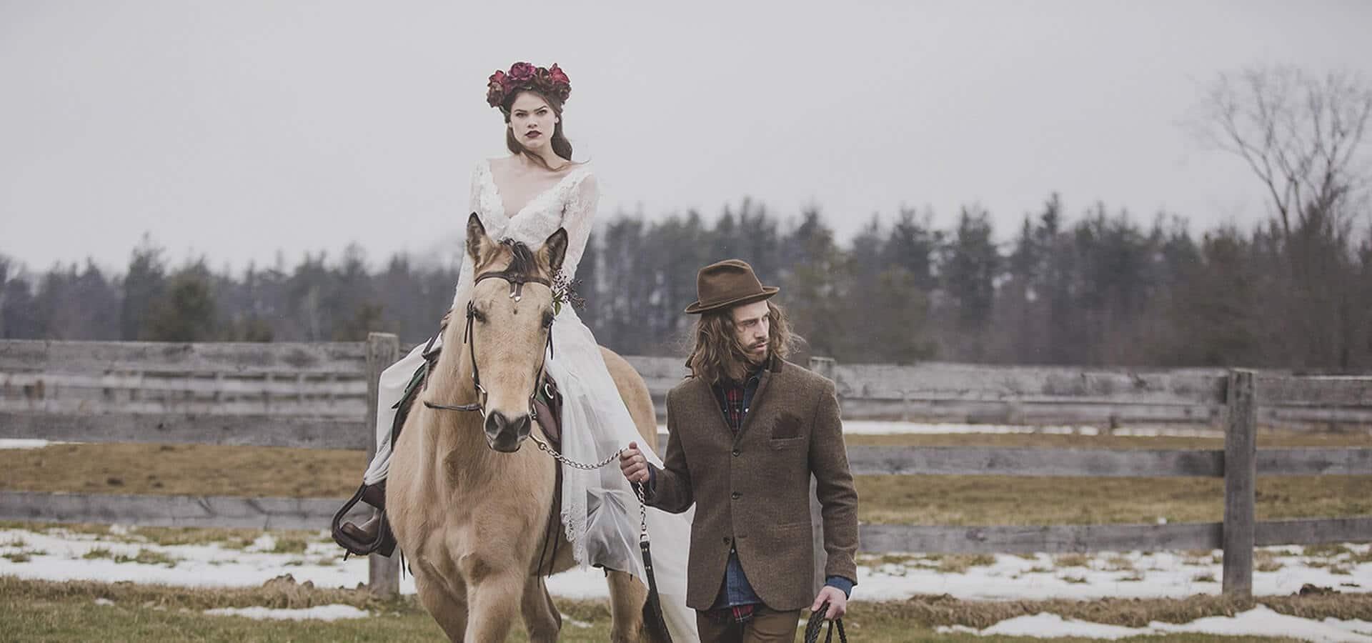 Hero image for A Winter Canadiana Woodland Inspired Styled Shoot at HollyOaks Farm