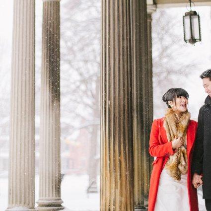 Thumbnail for Karen and Frank's Urban Winter Wedding at Hotel Ocho
