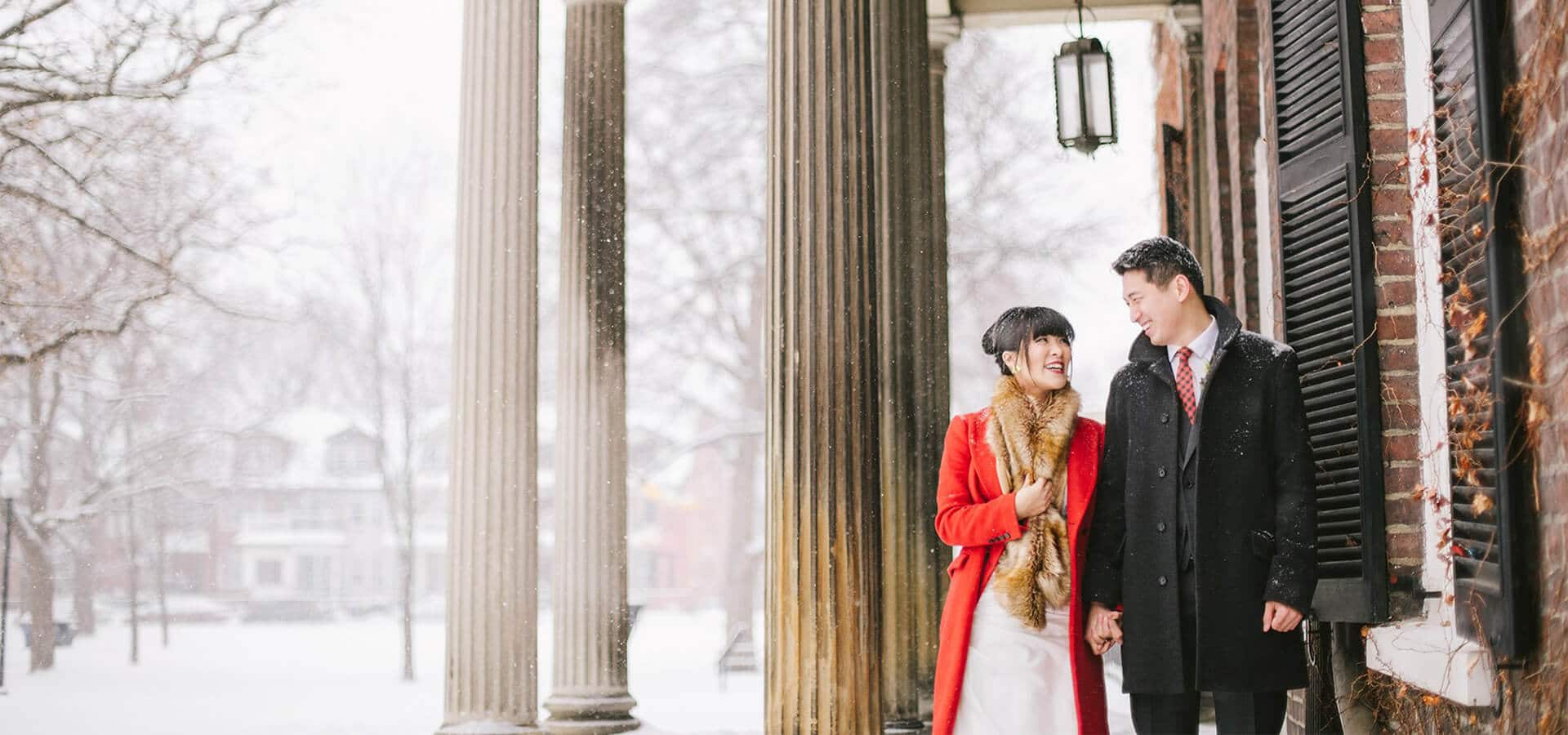 Hero image for Karen and Frank's Urban Winter Wedding at Hotel Ocho