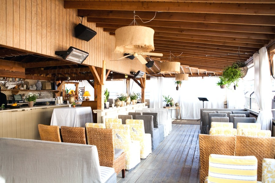 Summer ceremony setup at The Fifth Grill & Terrace