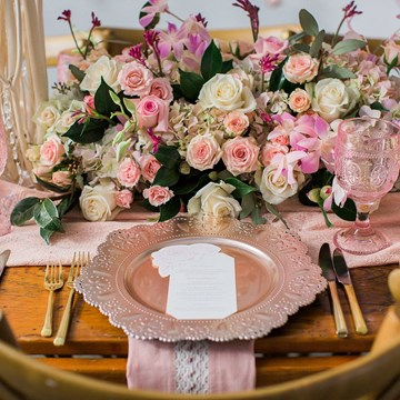 A Romantic Blush and Cream Styled Shoot