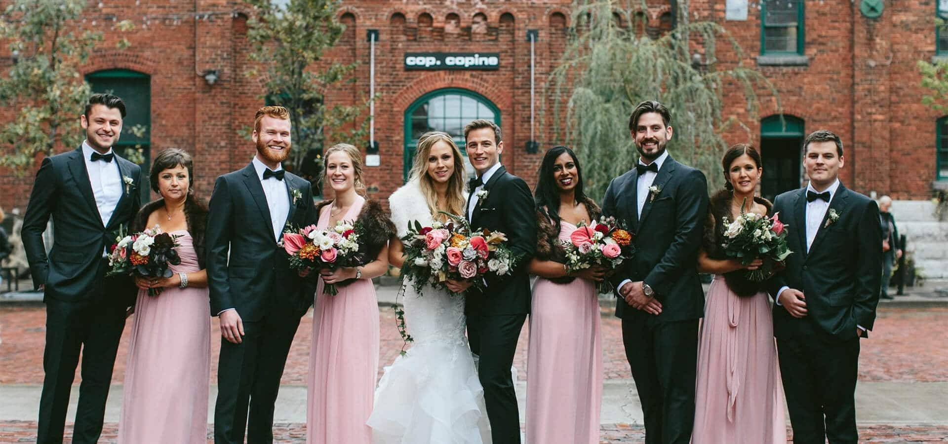 Hero image for Robyn and Mike's Ultra Romantic Wedding at The Distillery District – Loft
