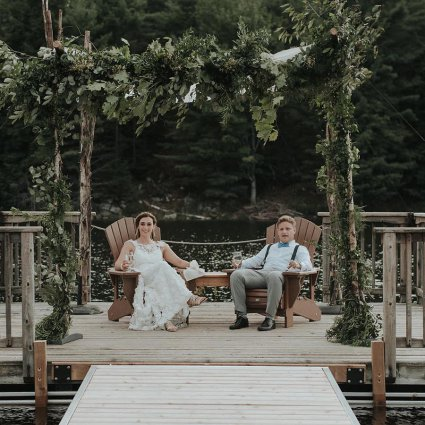 Daring Wanderer featured in Maddie and David's Romantic Cottage Wedding