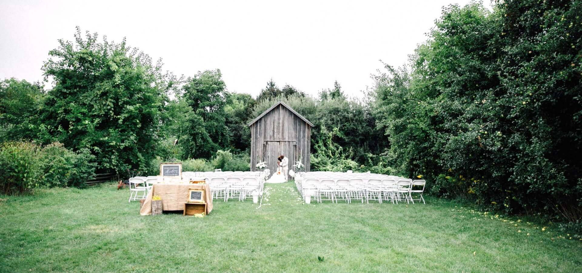 Hero image for Ruby and Charles' Southern Rustic Themed Wedding at Markham Museum
