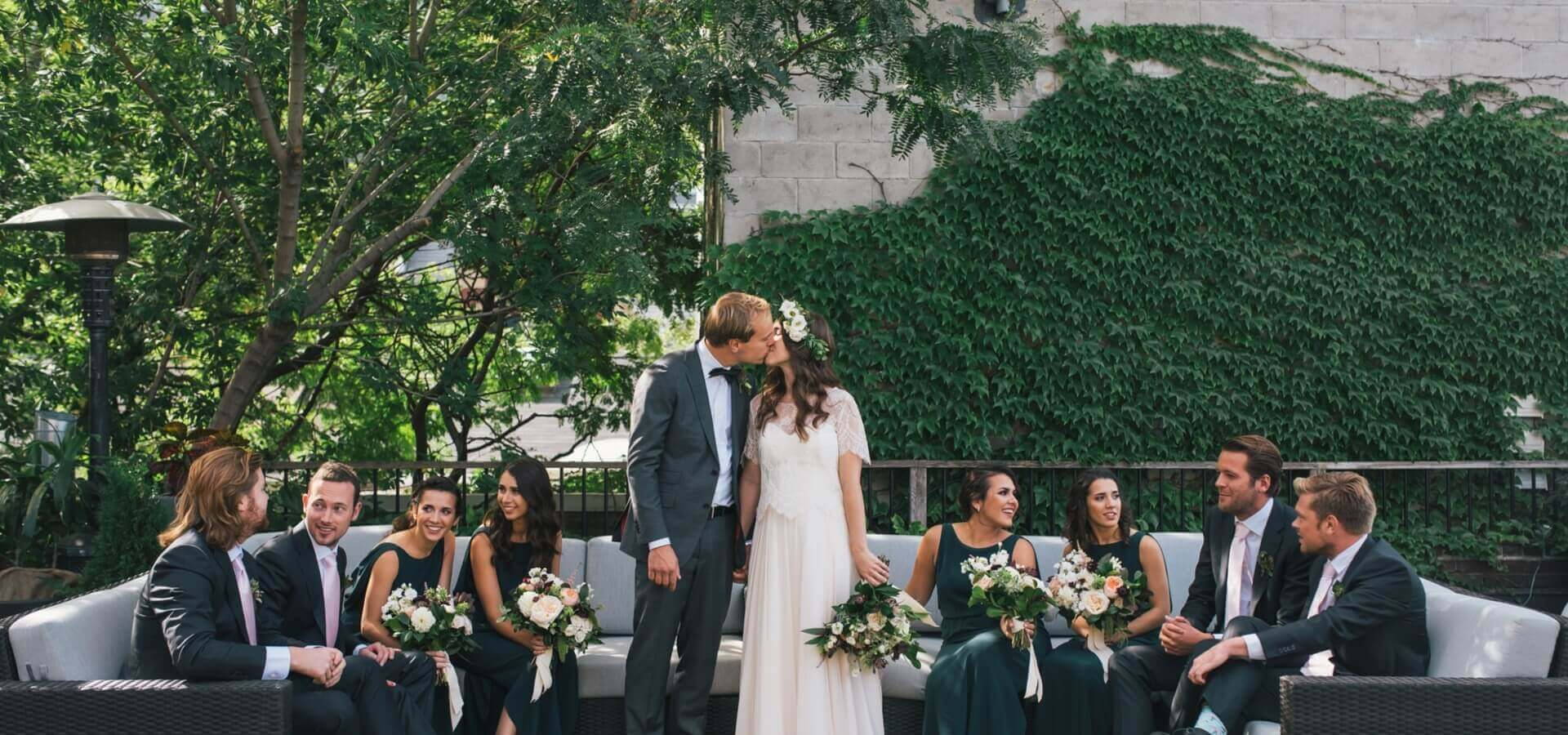 Hero image for Rayna and Bas' Chic Wedding at Andrew Richard Designs