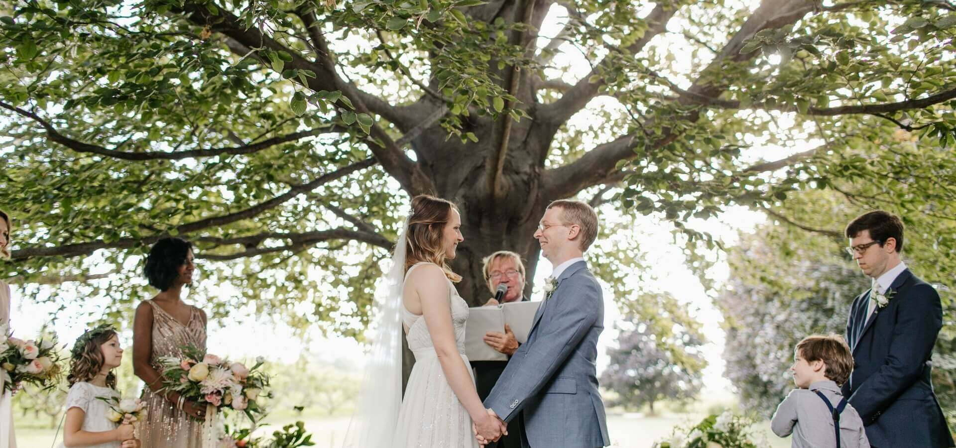 Hero image for Rebecca and Zeb's Magical Wedding at Cherry Avenue Farms
