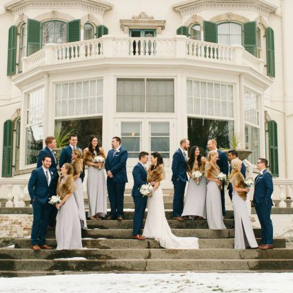 Storys Building featured in Andrea and Laird's Lovely Winter Wedding at Storys Building