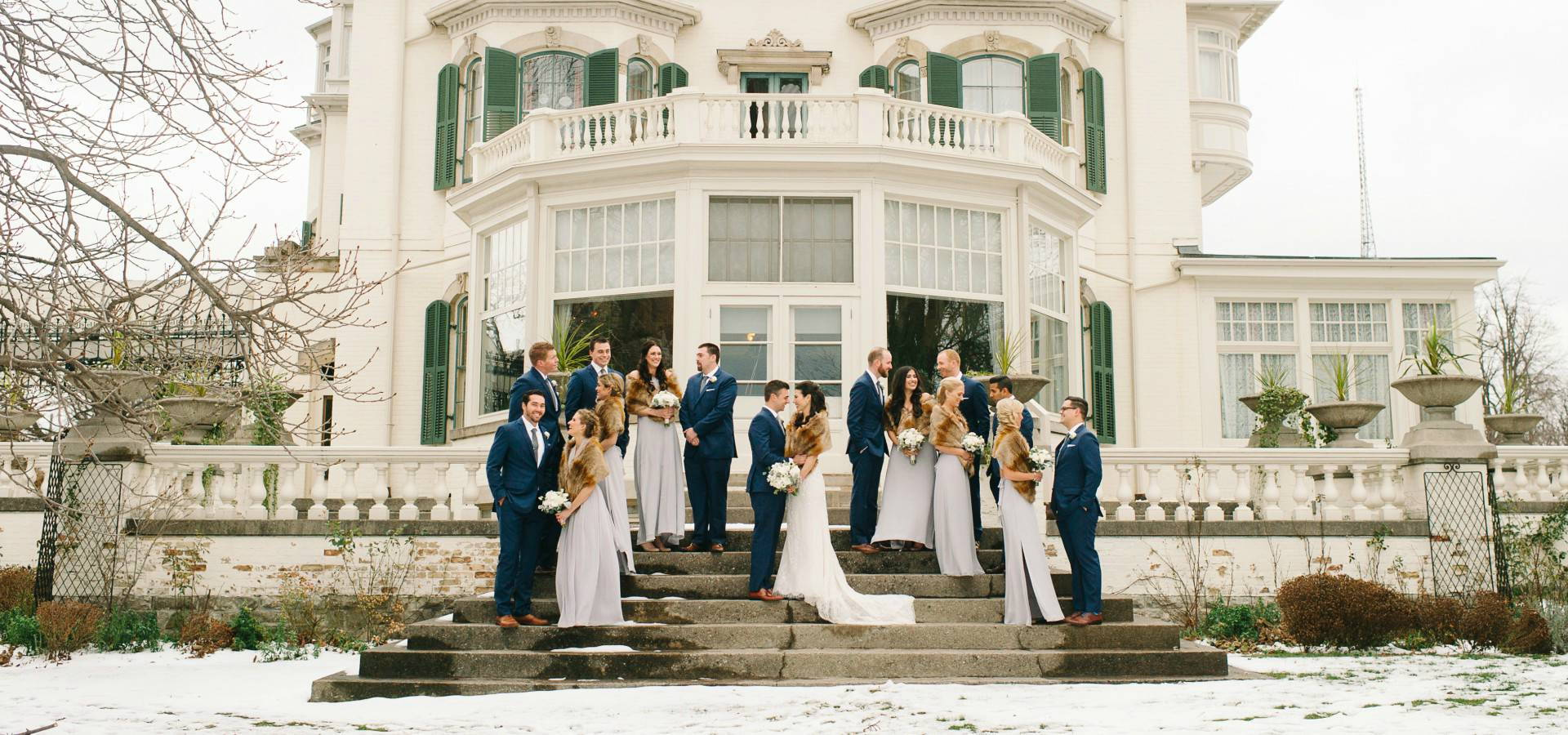 Hero image for Andrea and Laird's Lovely Winter Wedding at Storys Building