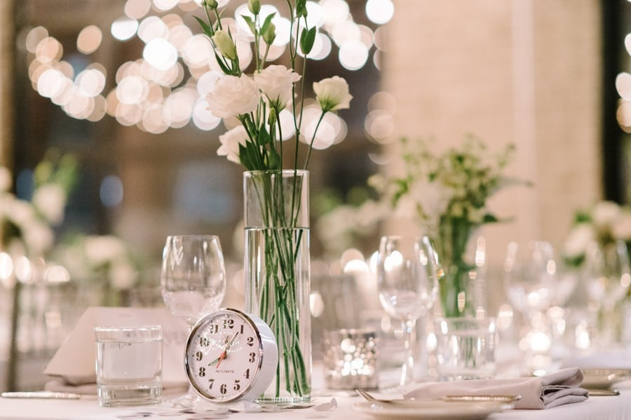 Coquette Studio Floral Design featured in Andrea and Laird's Lovely Winter Wedding at Storys Building