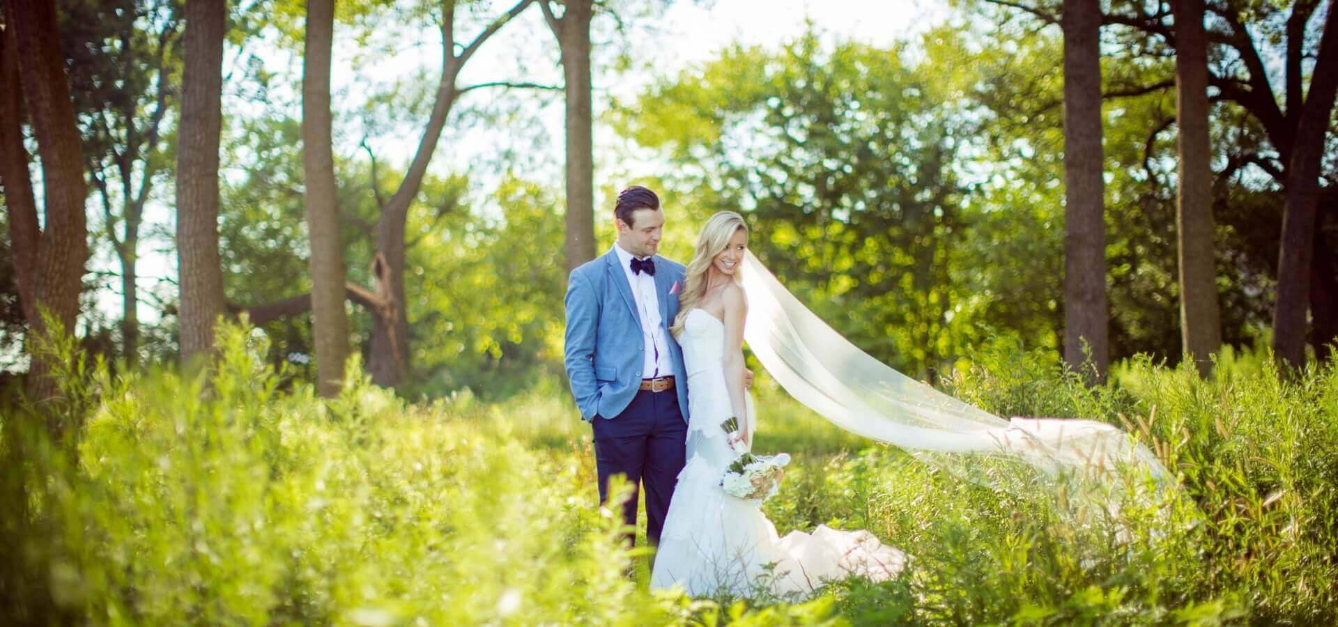 Hero image for Shannon and Stefan's Glamorous Wedding at Berkeley Church & Fieldhouse