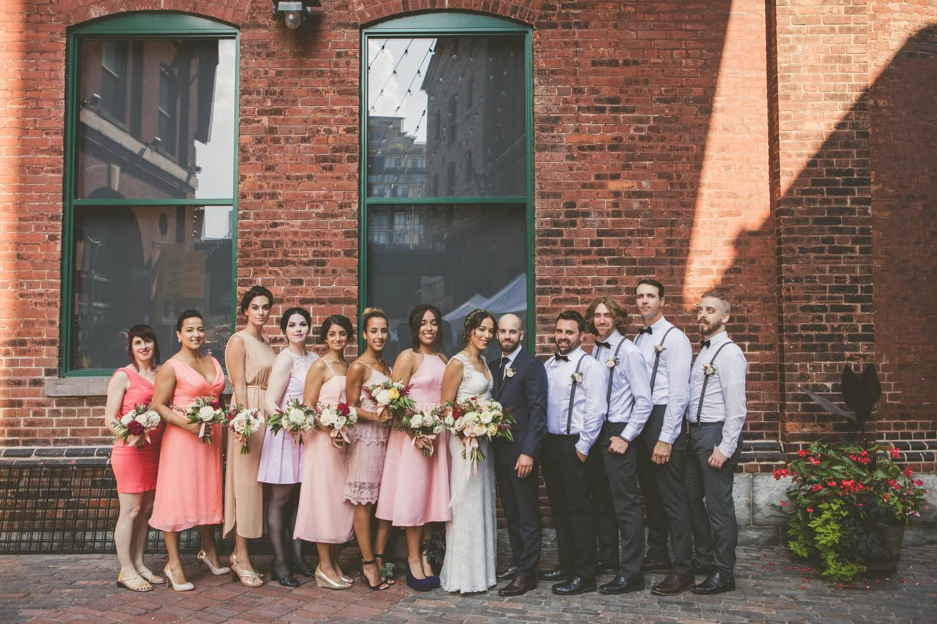 Hero image for Lily and Tony's Vintage Wedding In Toronto's Historic Distillery District