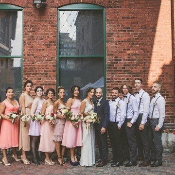 Lily and Tony's Vintage Wedding In Toronto's Historic Distillery District