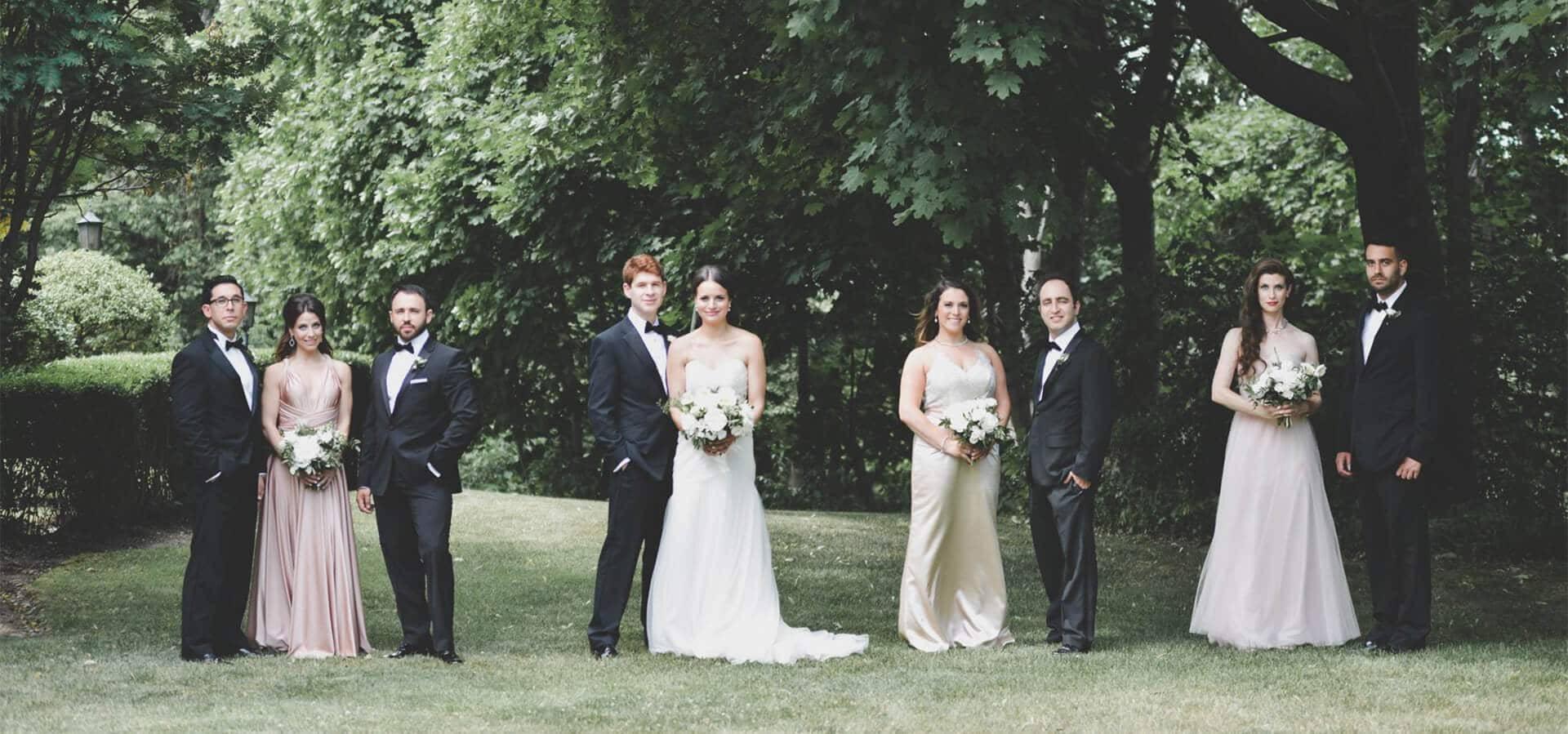 Hero image for Haley and Elliot's Classically Elegant Wedding at The Estates Of Sunnybrook