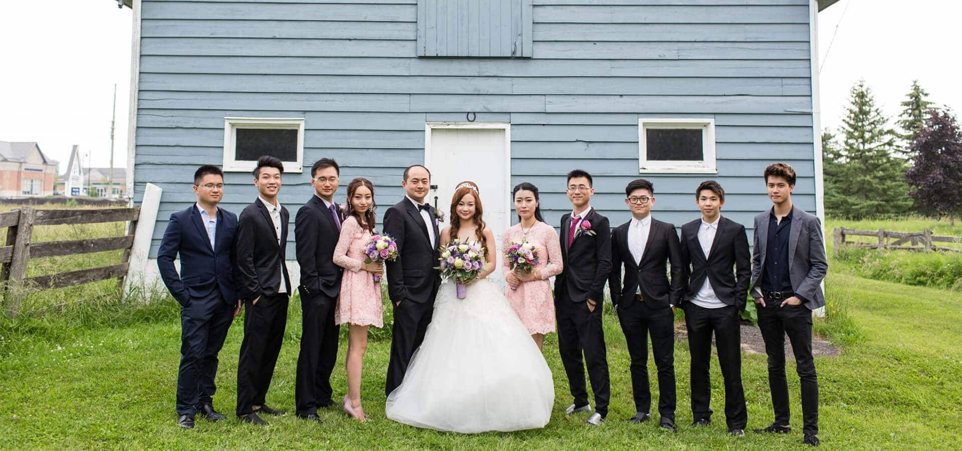 Hero image for Miao and Kenny's Provence Lavender Farm Themed Wedding at Angus Glen Golf Club