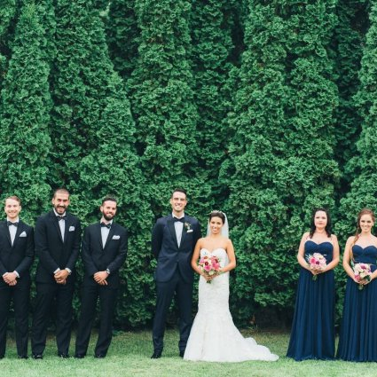 The Manor featured in Chloe and Andrew's Glamorous Wedding at The Manor