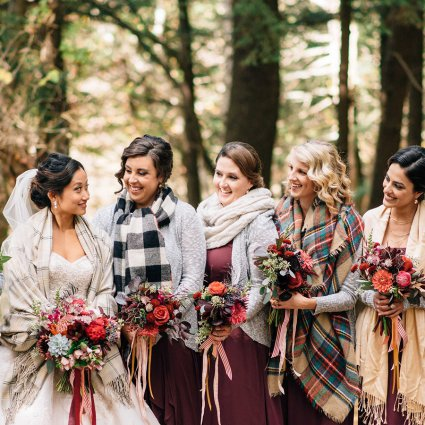 The McMichael Canadian Art Collection featured in Isabella and Lukas' Romantic Fall Wedding at McMichael Canadi…