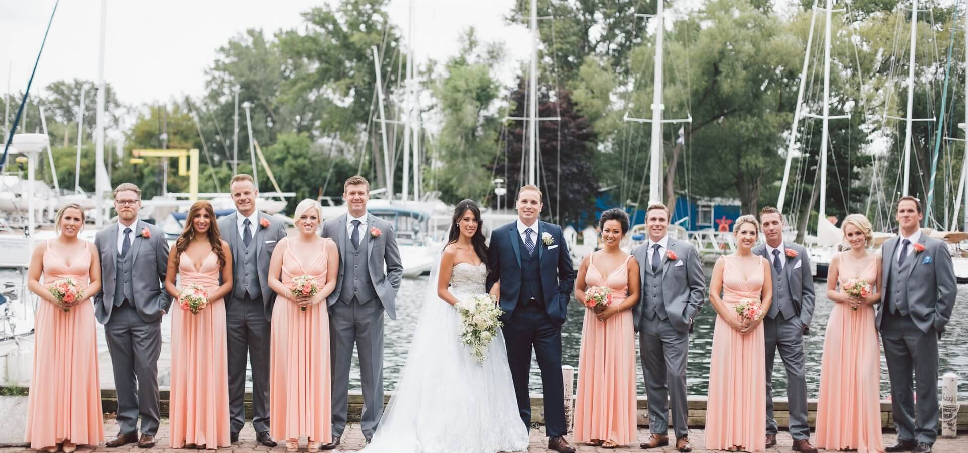 Hero image for Megan and James' Gorgeous Lake View Wedding at the Royal Canadian Yacht Club
